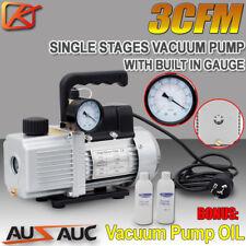 3cfm 1 Stage Refrigerant Vacuum Pump Refrigeration Gauges Tools Air