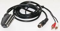 Dragon 32 / 64 to SCART Monitor / TV lead / cable with phono audio, 5-pin DIN
