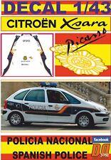 DECAL 1/43 CITROEN XSARA PICASSO 2008 POLICIA NACIONAL / SPANISH POLICE (09)