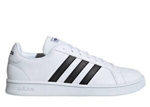 Scarpe da uomo Adidas sneakers sportive ginnastica tennis scuola pelle bianche
