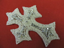 DESIGNER CROSS RHINESTONE APPLIQUE 3417-N