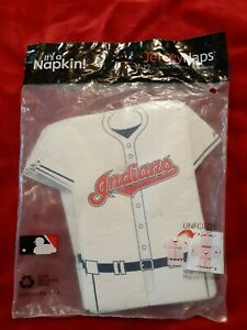 Cleveland Indians Jerseynaps  w Chief Wahoo Jersey Napkins FREE US Shipping