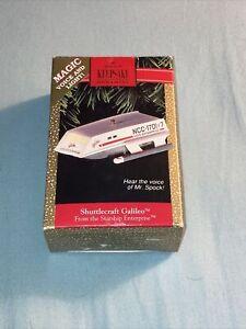 Star Trek Shuttlecraft Galileo Christmas Ornament 1992 Voice and Light
