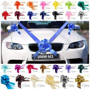 Wedding Poly Ribbon Car Kit 1, 3 or 5 Bows and 7 Metres of Ribbon Prom