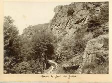 France, Rocher du Pont des Gardes, ca.1900, vintage silver print Vintage silver
