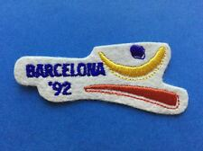 Rare 1992 Olympic Summer Games Barcelona Spain Hat Jacket Iron On Patch Crest A
