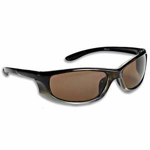 Fisherman Eyewear Riptide Sunglasses Black/Brown Lenses