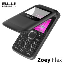 "BLU Zoey Flex Z130 1.8"" Cell Phone Flip VGA Unlocked Dual SIM Black NEW"