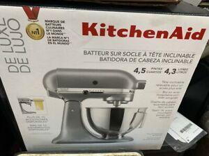 KitchenAid KSM97SL 4.5 qt Standalone Mixer - Silver BRAND NEW, SEALED