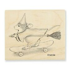 HOUSE MOUSE RUBBER STAMPS SKATEBOARD WITCH STAMP