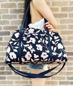 Kate Spade Jae Garden Vine Nylon Duffle Travel Carryon Bag Floral