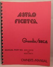 GREMLIN / SEGA: ASTRO FIGHTER rare PARTS MANUAL nice condition