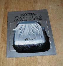 Toyota MR2 Mk1 Sales Brochure 1984-1986 - Full Version