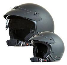 Jet Helm H740-SM Jethelm Motorradhelm mit Sonnenvisier schwarz-matt Größe S - XL