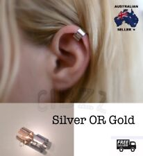 Cuff Earring Clip On Ear Wrap Punk Need NO Piercing Unisex Jewellery Silver Gold