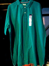 BASIC EDITIONS SIZE SMALL ( S ) DRESS/CASUAL POLO SS SHIRT-GREEN  NWOT