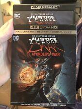 Justice League Dark Apokolips War 4k & Blu-ray With Slipcover. No Digital