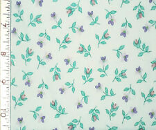 1YD TULIP DAISY CALICO Doll Floral Pink Purple Flowers Ozark Fabric Collection