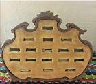 Antique Art Nouveau Wood Frame Multi Ring Display