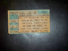 GUNS N ROSES/SOUNDGARDEN 1992 TICKET STUB**SAN DIEGO SPORTS ARENA**JAN.28, 1991*