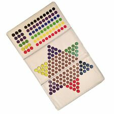 Checkbook Size Magnetic Folding Travel Chinese Checkers - 6 Different Color Side