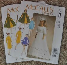 McCall Pattern Company M7267 Clothes for Barbie Doll