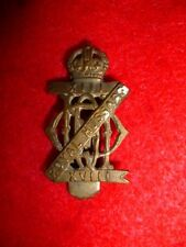 The 13th/18th Royal Hussars Brass Cap Badge, WW2