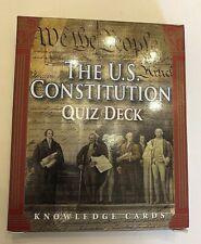 The US Constitution Quiz Deck, Knowledge Cards. Pomegranate Communications EUC
