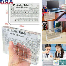 Acrylic Periodic Table Display of Elements Teaching Learning Tools