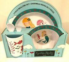 Cynthia Rowley KIDS 5 Pc Melamine  Lunch / Dinner Set NEW