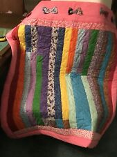 Handmade Baby Girl Crib Quilt 38x44