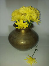 Antique Large Indian Hindu Lota Water Vessel Brass/Bronze
