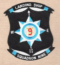 "USN Navy Patch:  Landing Ship Squadron Nine - 3"""