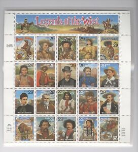 US Sc# 2870 MINT NH, LEGENDS OF THE WEST Recalled Error Stamp Sheet Bill Pickett