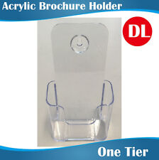DL Acrylic Brochure Holder/Menu Holders Sinlge Tier