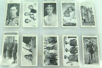 ".c1937 WILLS ""OUR KING AND QUEEN"" FULL SET CIGARETTE CARDS."