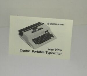 Silver Reed Portable Electric Typewriter Instructions Reproduction