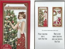 ART DECO 18 LUXURY CHRISTMAS CARDS 2 DESIGNS IN EACH BOX 2 BOXES TO CHOOSE FROM