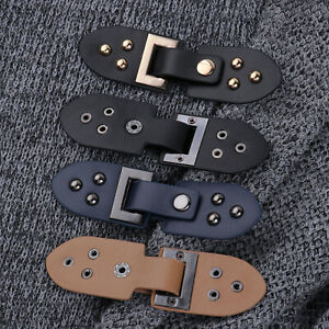 3x Faux Leather Clip Holder Buckle Clasp Pin for Cardigan Luggage Bag Fastener