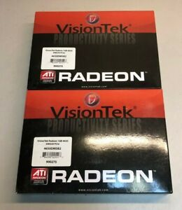 Lot of (2) NEW VisionTek Radeon 1GB 4650 DMS59 PCIe (dual video card) 900275