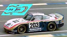 Calcas Porsche 961 Le Mans 1987 203 1:32 1:43 1:24 1:18 decals