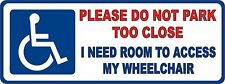 Disabled Sign Disability Mobility Wheelchair Car Parking STICKER / VINYL DECAL