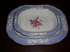 Spode Copeland's Maritime Rose  Oval  Vegetable  Dish Serving platter  Blue (2)