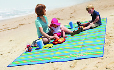 L Beach Mat Large Picnic Blanket Straw Sand Free Sandless Camping Rug Waterproof