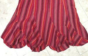 Fabulous ESSENCE by EVANS Cotton Stripe Scalloped Hem Summer Skirt sz 22
