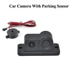 Car Rear View System Kit Waterproof Reverse Backup Night Camera w Parking Sensor