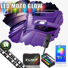 LED Strip Interior Lighting Kit - Bluetooth Smart-Color W/Power Switch Music mod