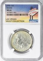 1935 Boone Commemorative Silver Half Dollar - NGC MS-64 - Casino Vault