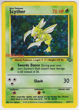 "POKEMON JUNGLE ""SCYTHER"" #10/64 HOLO FOIL RARE UNLIMITED NEVER BEEN PLAYED MINT"