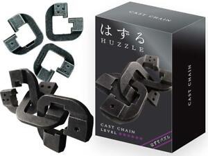 Eureka Hanayama Huzzle Puzzle Metal 3D Brain teaser Chain Level 6